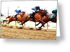 Racetrack Dreams 7 Greeting Card