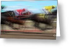 Racetrack Dreams  Greeting Card