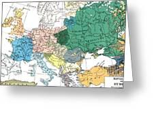 Racial Map Of Europe Circa 1923 Greeting Card