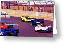 Racing At Laguna Seca Greeting Card
