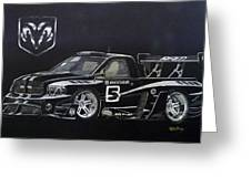 Racing Dodge Pickup Greeting Card