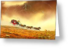 Racing The Storm Greeting Card by Don Griffiths