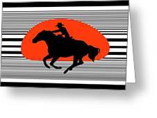 Racing The Wind Greeting Card