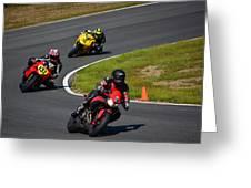 Racing Through Turn 11 Greeting Card