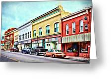 Radford Virginia - Along Main Street Greeting Card