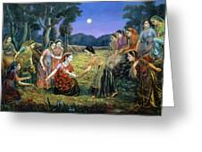 Radha Lamenting With The Gopis Greeting Card