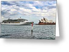 Radiance Of The Seas Passing Opera House Greeting Card