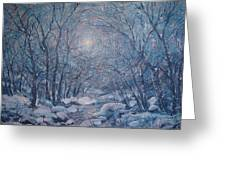 Radiant Snow Scene Greeting Card
