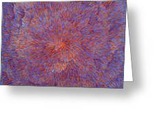 Radiation With Blue And Red  Greeting Card