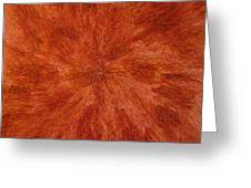 Radiation With Brown Yellow And Voilet Greeting Card