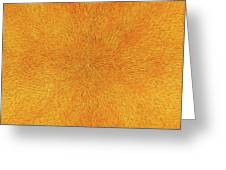 Radiation With Gold  Red And Brown  Greeting Card