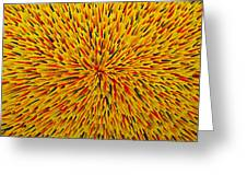 Radiation Yellow  Greeting Card