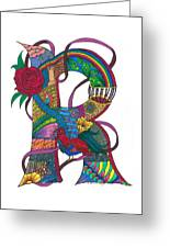 Radical Rooster Greeting Card
