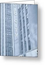 Radio City Cool Toned Greeting Card