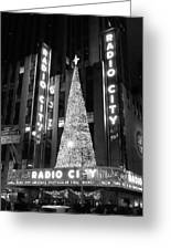Radio Glow Black And White Greeting Card by Francis Flatley