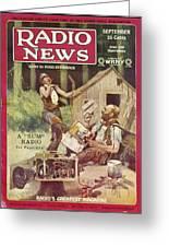 Radio News, 1926 Greeting Card