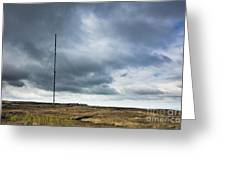 Radio Tower In Field Greeting Card