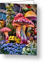 Radioactive Mushrooms Greeting Card