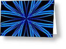 Radioactive Snowflake Blue Greeting Card