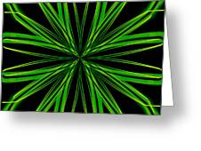 Radioactive Snowflake Green Greeting Card