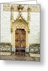 Radovljica Church Door Greeting Card