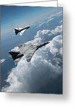 Raf Tsr.2 Advanced Bomber With Lightning Interceptor Greeting Card
