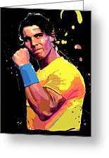 Rafael Nadal Greeting Card
