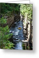 Rafting In A Gorge Greeting Card