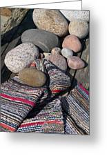 Rag Rugs With Stones And The Dock 3 Greeting Card