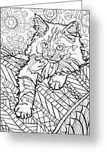 Ragdoll Kitten - Coloring Image Greeting Card