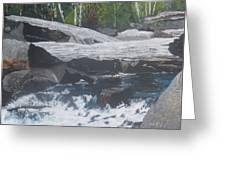 Ragged Falls Greeting Card