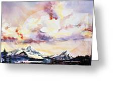 Ragged Mountains Sunset Greeting Card