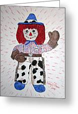 Raggedy Andy Cowboy Greeting Card