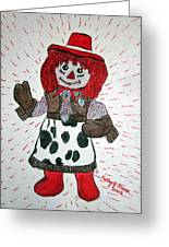Raggedy Ann Cowgirl Greeting Card