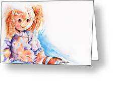 Raggedy Rosie Greeting Card