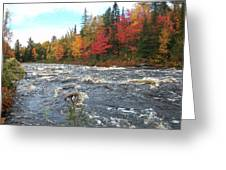 Raging Michigamme River Greeting Card