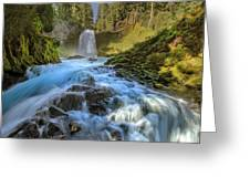 Raging Sahalie Falls Greeting Card