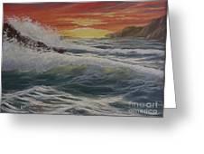 Raging Surf Greeting Card