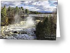 Raging Water Greeting Card
