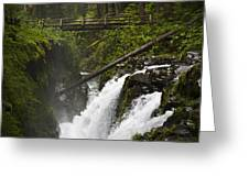 Raging Water Fall Greeting Card