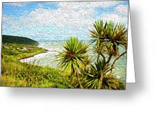 Raglan Coastline Greeting Card