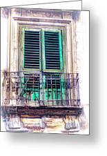 Ragusa Window Greeting Card