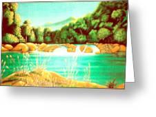 Rai Valley Falls Si Nz Greeting Card by Barbara Stirrup