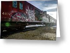 Railcar Graffiti Greeting Card