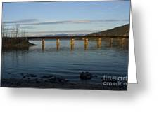Railroad Bridge Over The Pend Oreille Greeting Card
