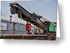 Railroad Crane Greeting Card