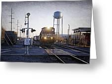 Railroad Crossing Greeting Card