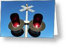 Railroad Crossing Lights Greeting Card