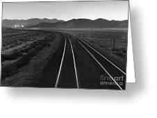 Railroad Lines Greeting Card
