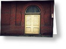 Railroad Museum Door Greeting Card